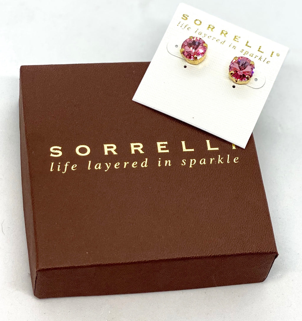 Sorrelli Studs-ECM14 Bright Gold Light Rose