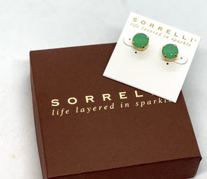 Sorrelli Studs-ECM14 Bright Gold Pacific Opal