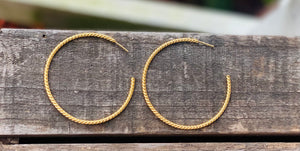 Sterling with gold overlay cable twist earrings