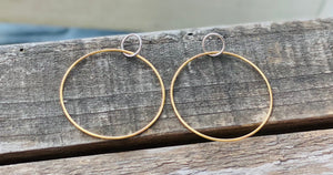 Sterling Mixed Metal Silver and gold earrings