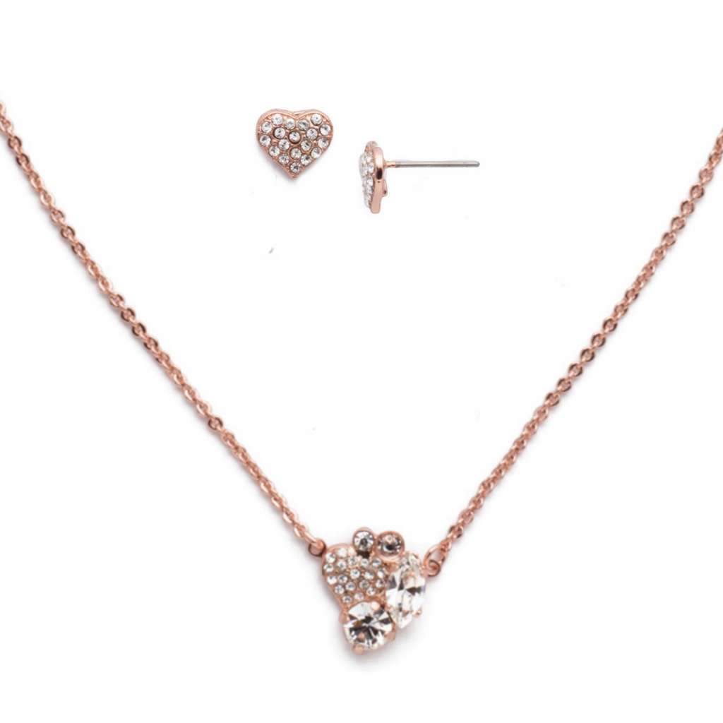 $125 Rose Gold Crystal Clear Sorrelli Set Style NER6 | ESP72