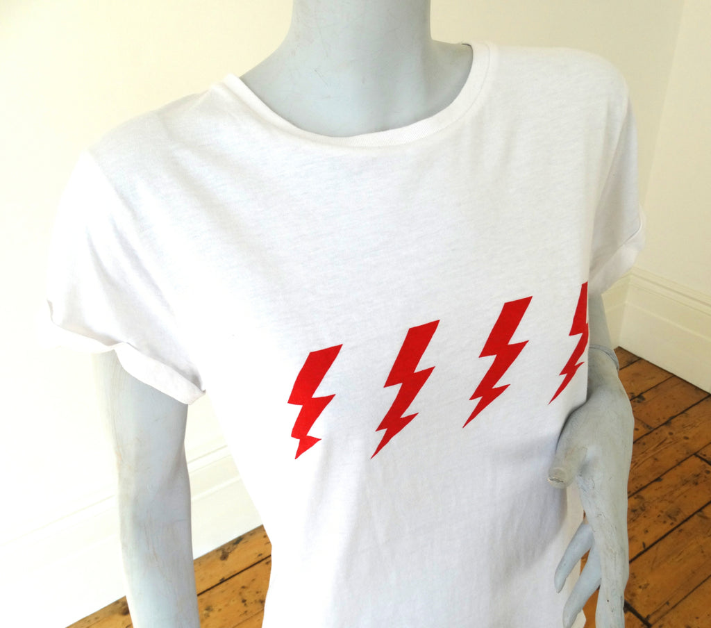T-Shirt with Four Flash Print on Recycled Cotton