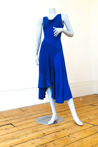Hybrid Dress in Royal Blue Sleeveless