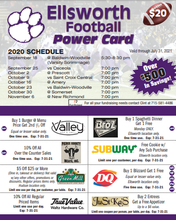 Load image into Gallery viewer, Ellsworth Football Coupon Card 2020