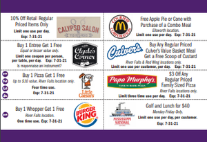 Ellsworth Football Coupon Card 2020