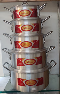 5 PC ALUMINUM POT SET