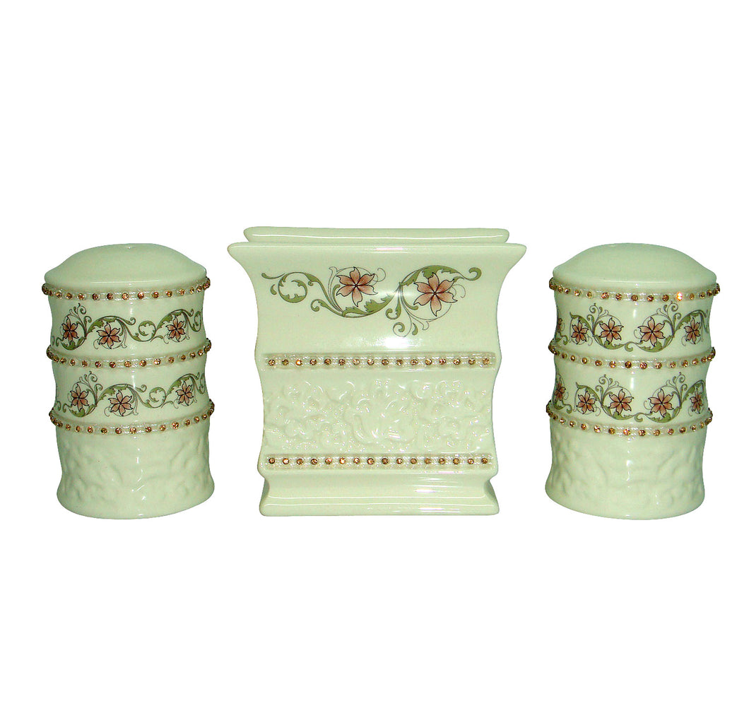 3 PC SALT, PEPPER, & NAPKIN SET