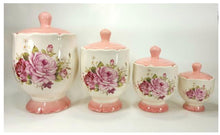 Load image into Gallery viewer, 4 PC CANISTER SET - MAROON, PINK, BROWN, RED