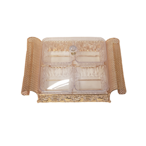 DRY FRUIT TRAY- GOLD
