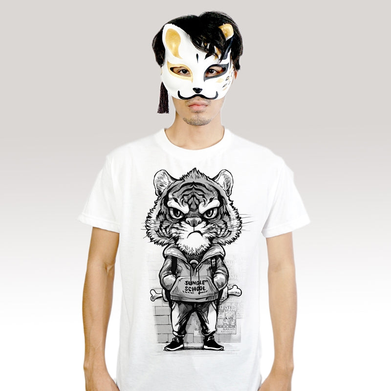 Tiger Boy - T-Shirt (Unisex) - Unikat, Unique, Einige, Cool, Manga Comic Style Design