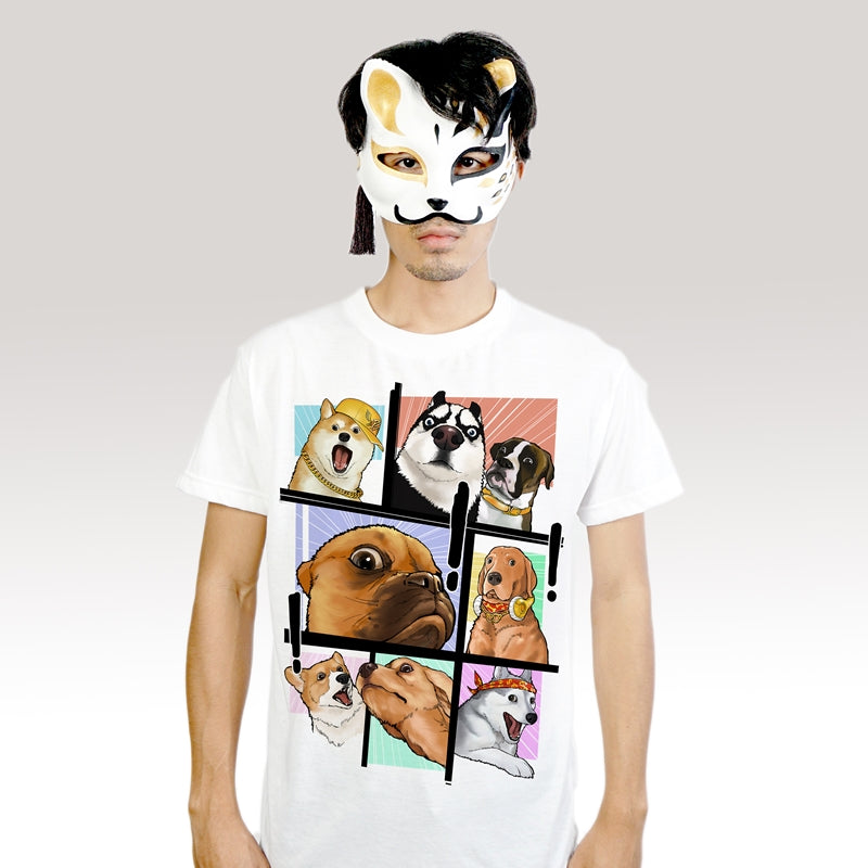 OMG! Hund - T-Shirt (Unisex) - Unikat, Unique, Einige, Cool, Manga Comic Style Design