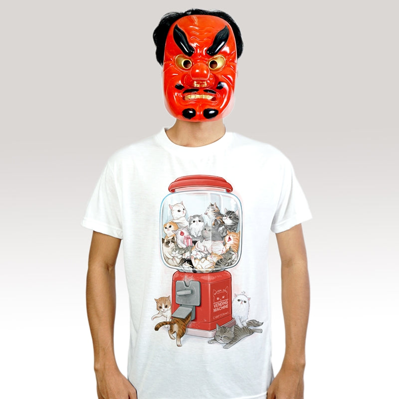 Gashapon Katzen - T-Shirt (Unisex) - Unikat, Unique, Einige, Cool, Manga Comic Style Design