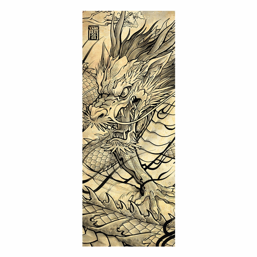 Tenugui - Dragon - Unikat, Unique, Einige, Cool, Manga Comic Style Design