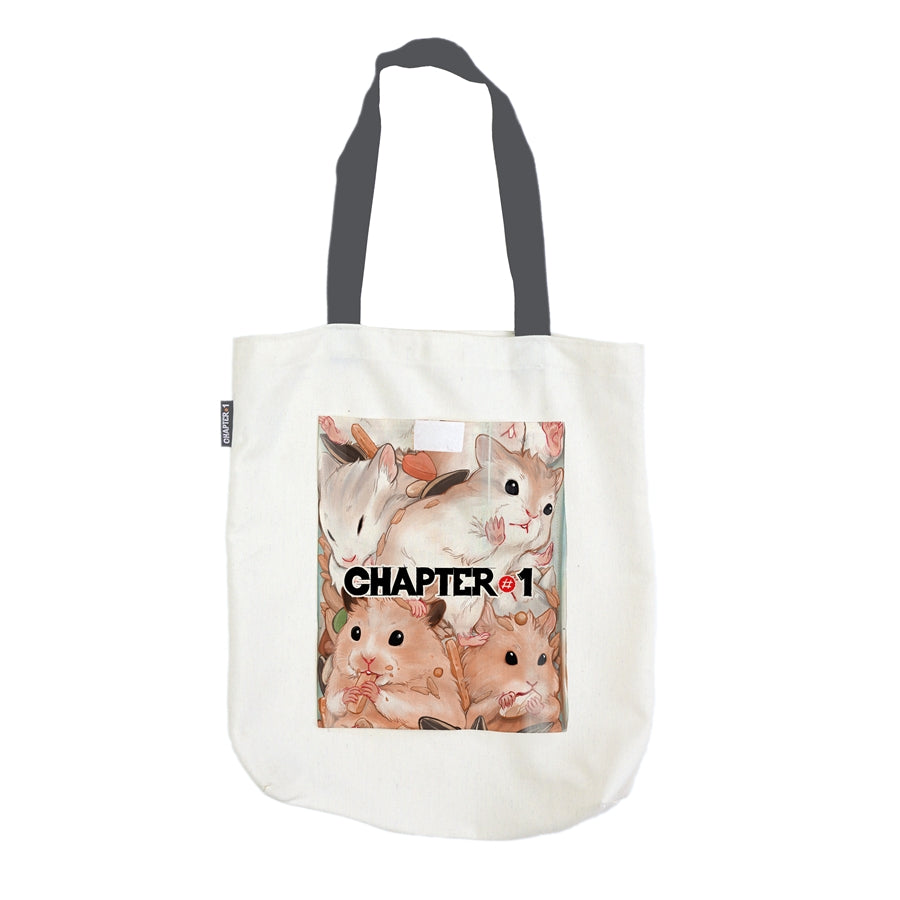 Tote Bag - Hamster Mug - Unikat, Unique, Einige, Cool, Manga Comic Style Design