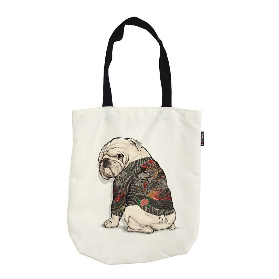 Tote Bag - Bulldog Tattoo - Unikat, Unique, Einige, Cool, Manga Comic Style Design