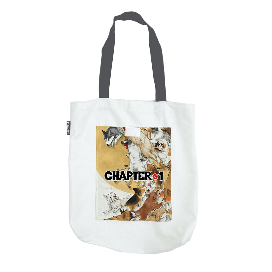 Tote Bag - Dog Wave - Unikat, Unique, Einige, Cool, Manga Comic Style Design