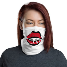 "Load image into Gallery viewer, Lip Mask ""Quiet But Not Silent"" by CoronaFashions"