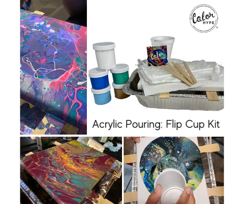 DIY Acrylic Pouring Kit with Flip Cup