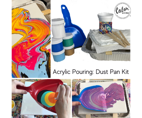 DIY Acrylic Pouring Kit with Dustpan