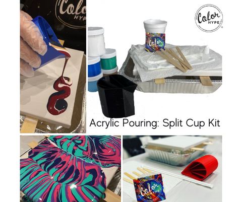 DIY Acrylic Pouring Kit with Split Cup