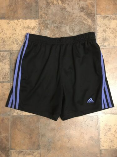 Adidas Women's Size Small Athletic Shorts W/ Drawstring Waist Black W/ Purple