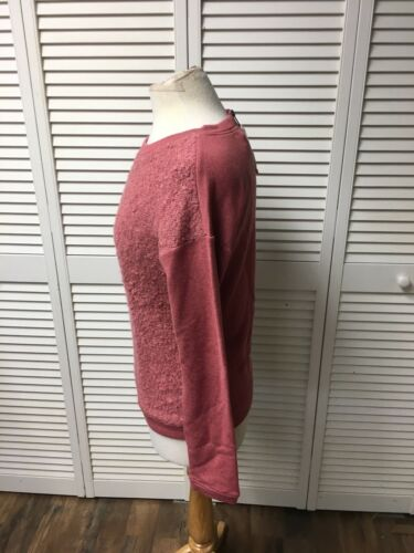 Hinge Women's Size Small Pink Long Sleeve Sweater Fuzzy And Soft NWT Nordstrom
