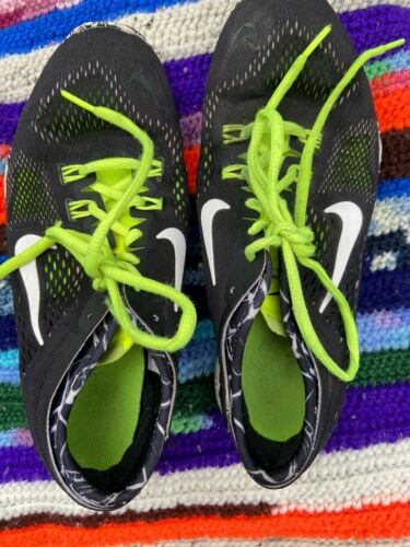 Womens Black White Neon Nike Shoes Sneakers 7.5