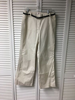 NEW Nine & Co. Women's Size 12 Verona Stretch Beige Pants With Belt NWT