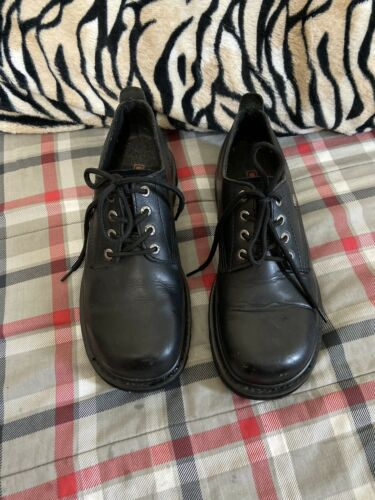 Mens Harley Davidson Black Leather Work Motorcycle Lace Up Shoes Sz 8