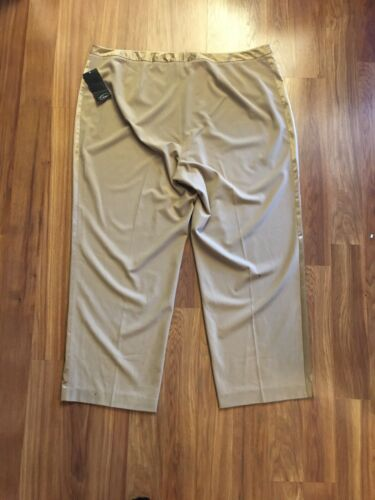 NEW Emme Women's Size 24 Gold Dress Pants NWT