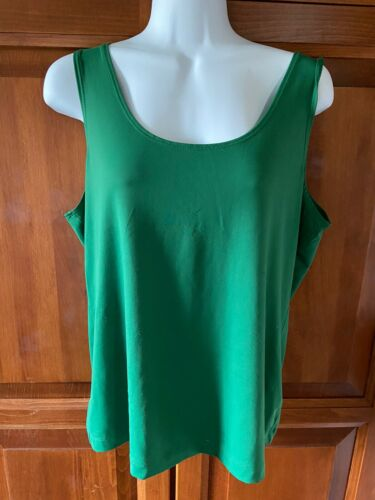 Women's Chico's Tank Top Green Sz 2