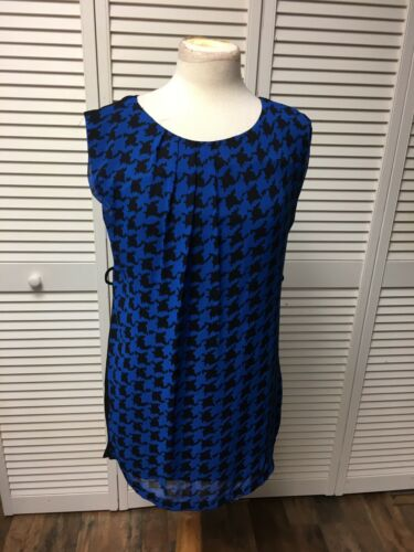 Forever 21 Women's Size Small Blue/Black Patterned Sleeveless Dress NWT