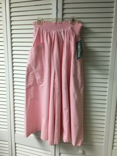 Cabin Creek Women's Size 14 Pink Flowy Pants With Pockets Elastic Waist