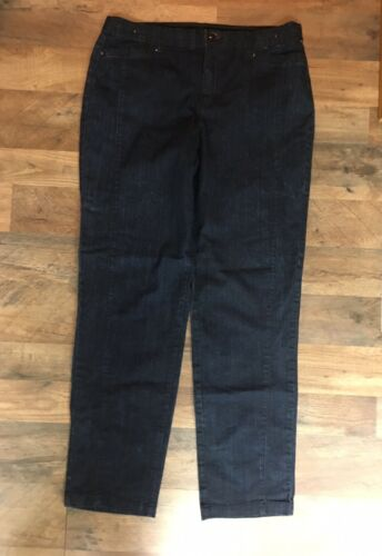 Khakis & Company Women's Size 10 Dark Blue Jeans Flexible Waist With Pockets