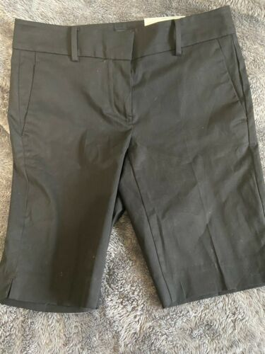 Women's Ann Taylor Broadwalk Short Mid Rise Black Sz 2