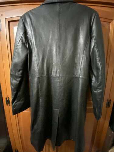 Juliet Michelle By Adler Black Leather Womens Coat Size M