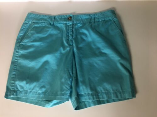 Ann Taylor Loft Women's Size 12 Blue Shorts W/ Pockets And Button/Zipper Closure