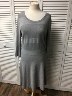 Worthington Women's Size XL Grey Long Sleeve Sweater Dress