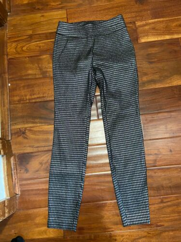 Women's 7th Avenue New York & Co Pants Black/Sliver Sz S