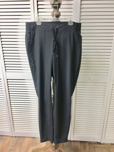 Athleta Women's Size 8T Black Athletic Pants With Drawstring And Pockets