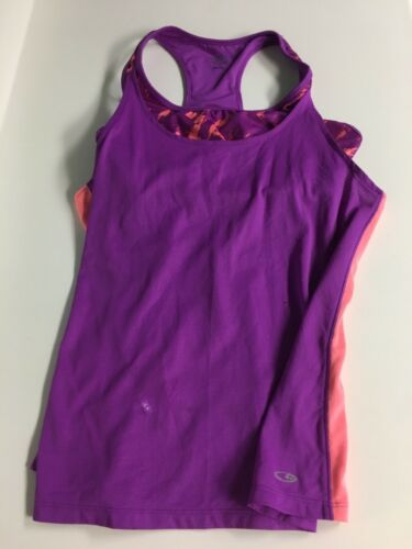 Champion Women's Size Large Athletic Workout Razor Back Tank Top W/ Built In Bra