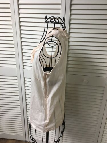 J. Crew Women's Size 0 Sleeveless Blouse With Ruffeled Front, Side Zipper