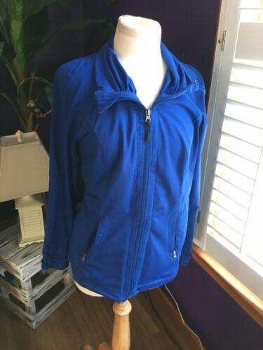 Tangerine Women's Size Large Blue Zip Up Jacket W/ Zipper Pockets