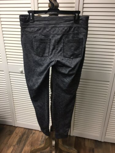 Athleta Women's Size MT Heathered Grey Athletic Pants With Pockets
