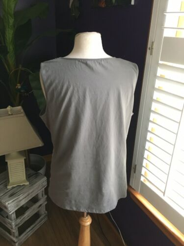 George Women's Size XL 16-18 Grey Tank Top With Sequins Front NWT