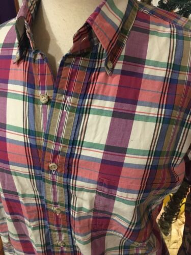Jos. A. Bank Sportswear Women's Size Medium Plaid Long Sleeve Button Down Blouse