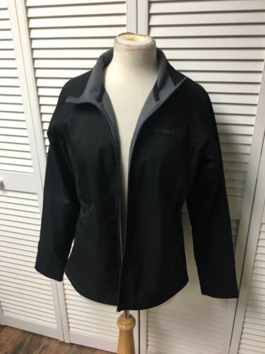 Columbia Sportswear Co Women's Sz Large Black Zip Up Jacket With Zipper Pockets