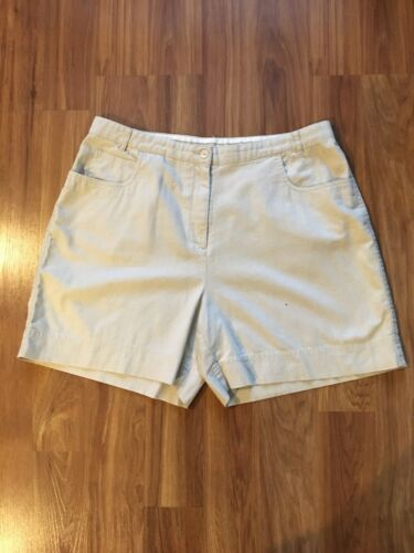 Christopher & Banks Womens Size 16 Beige Shorts W/ Pockets