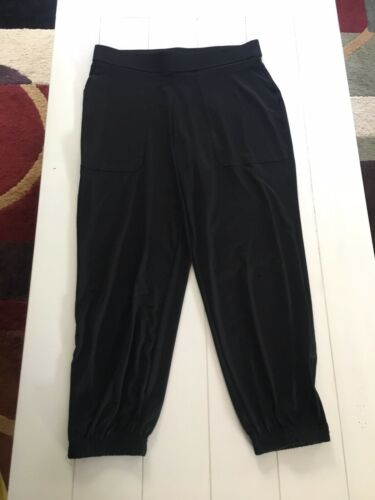Lisa Rinna Collection Women's Size Small Flowy Pants W/ Pockes Zippers At Ankles