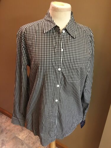 Crazy Horse Liz Claiborne Women's Size Medium Long Sleeve Plaid Button Down